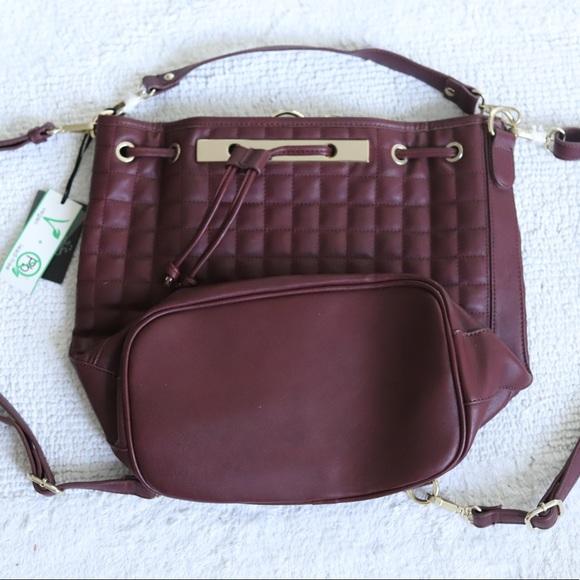 Convertible Vegan Leather Bag